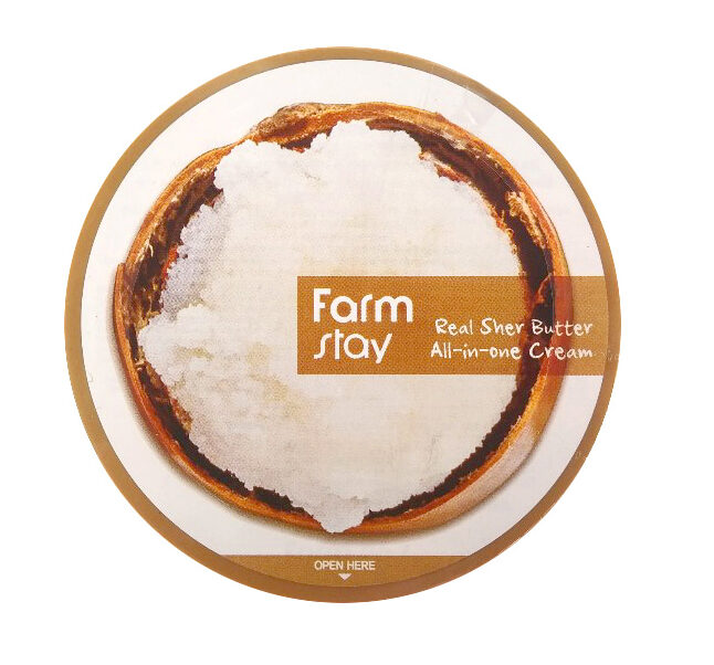 Farm Stay Real Sher Butter All-in-One Cream, Крем для тела с маслом ШИ, 300 мл