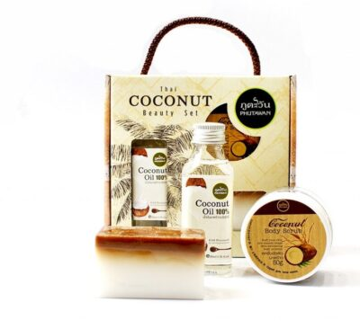 Phutawan Thai Coconut Beauty Set Кокосовый сэт, 3 предмета.