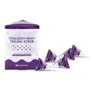 Mizon Collagen Milky Peeling Scrub, Скраб для лица с коллагеном