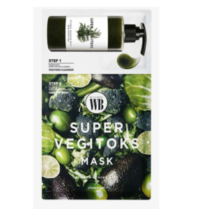Super Vegitoks Mask, Двухэтапная очищающая маска для лица, 1 шт