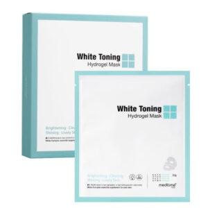 Meditime White Toning Hydrogel Mask, Гидрогелевая маска против пигментации, 1 шт