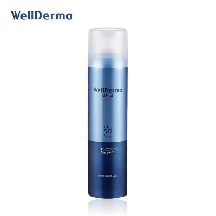 Wellderma G Plus Cooling Sun Spray, Охлаждающий солнцезащитный спрей, 180мл