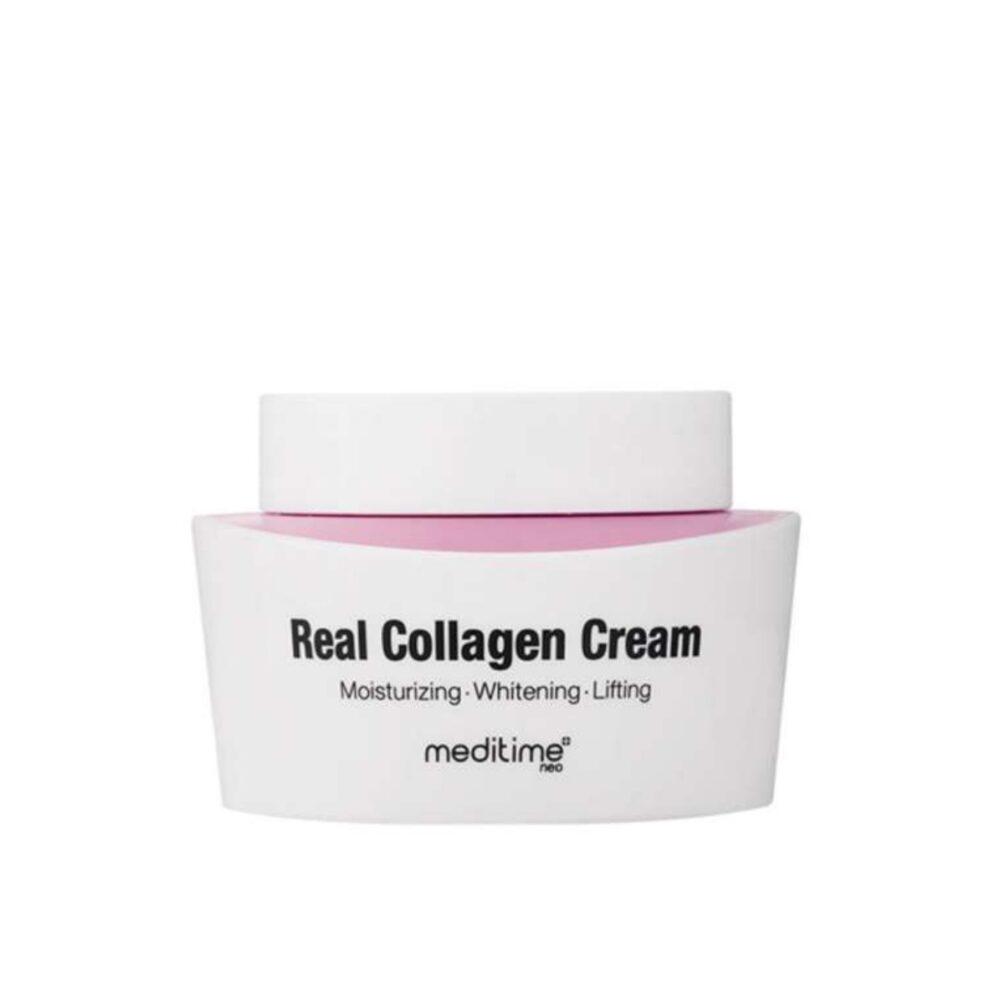 Meditime Real Collagen Cream, Крем на основе коллагена и пептидов для упругости кожи, 50 мл