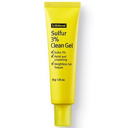 By Wishtrend Sulfur 3% Clean Gel, Гель против прыщей на основе серы, 30 гр