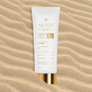 1004 Laboratory Artois Cica-Watery Sun Gel PA50++++, Солнцезащитный гель для чувствительной кожи, 50 мл