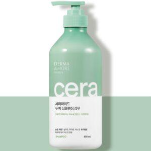 Derma&More CERA Shampoo, Профессиональный шампунь на основе керамидов для поврежденных волос, 600 мл