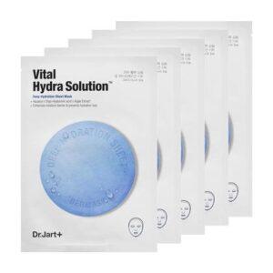 Dr.Jart+ Vital Hydra Solution, Интенсивная увлажняющая тканевая маска с гиалуроновой кислотой, 5 шт