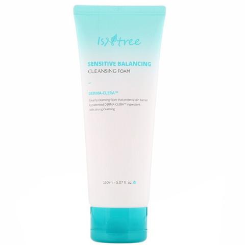 Isntree Sensitive Balancing Cleansing Foam, Балансирующая пенка для умывания для чувствительной кожи, 150 мл