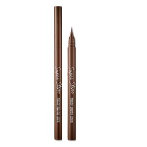 Etude House Super Slim Proof Brush Liner, Лайнер для глаз (Темно-коричневый), 1 шт