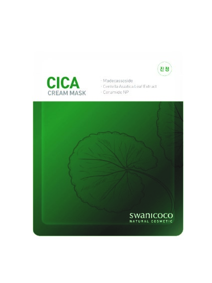 Swanicoco CICA Cream Mask, Маска тканевая с керамидами и успокаивающим комплексом, 1 шт