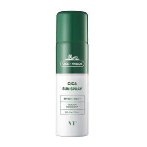 VT Cica Sun Sprey 50+++, Солнцезащитный спрей для чувствительной кожи, 90 мл