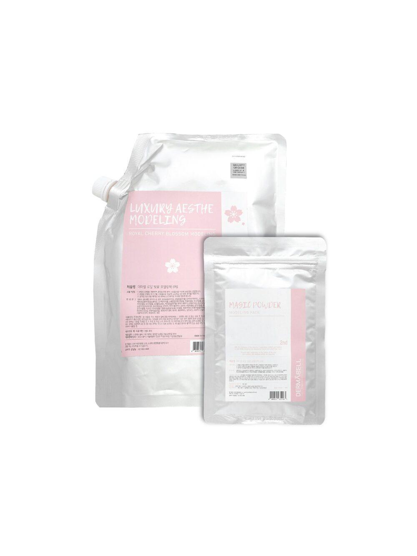 Dermabell Royal cherry blossom Modeling pack series, Двухэтапная альгинатная маска для питания кожи