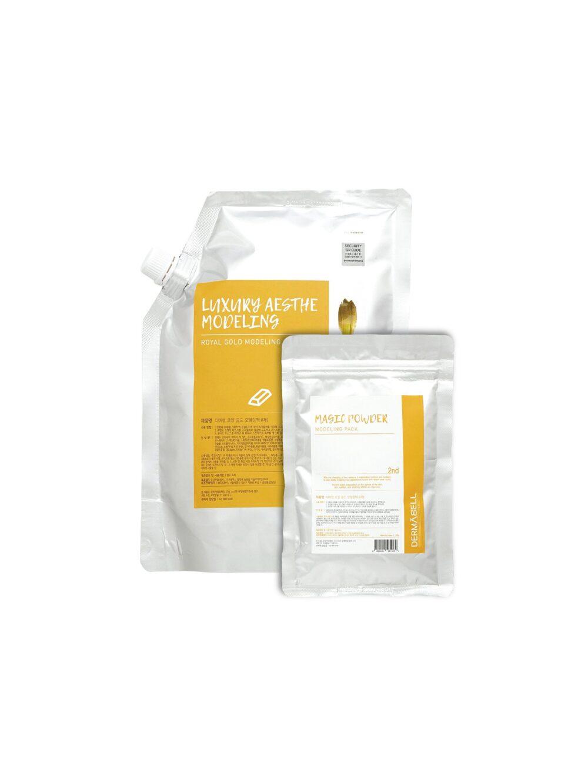 Dermabell Royal Gold  Modeling pack series, Двухэтапная альгинатная маска антивозрастная