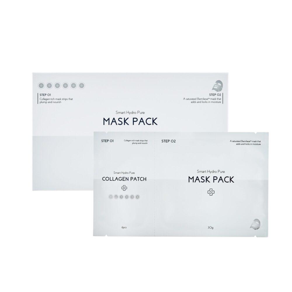Dermabell Basic Smart Hydro Pure Mask Pack, Двухэтапная маска для гидратации и упругости кожи, 1 шт