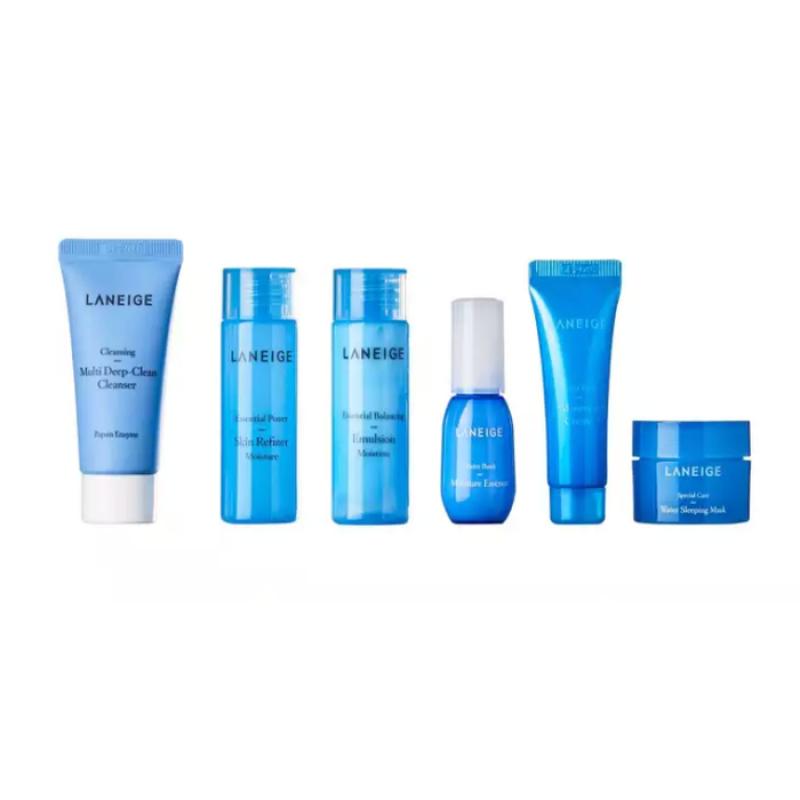 Laneige Moisture Care Travel Kit, Мини-набор для увлажнения кожи, 6 позиций