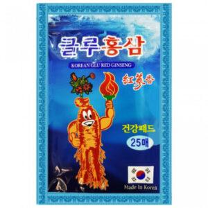 Корейский пластырь с глюкозамином и красным женьшенем