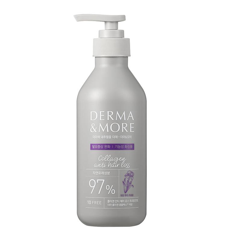 Derma & More Collagen Anti Hair Loss Treatment, Маска против выпадения волос, 400 мл