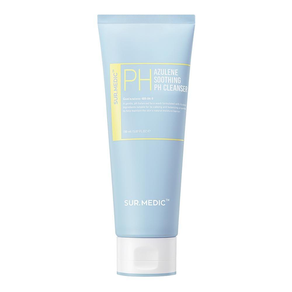 Sur.Medic+ Azulene soothing Ph cleanser, Пенка для чувствительной кожи с азуленом, 150 мл