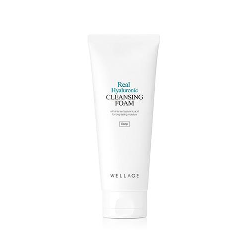 Wellage Real Hyaluronic Cleansing Foam, Пенка для умывания на основе Гиалуроновой кислоты, 150 мл