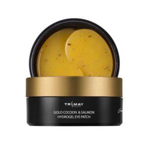 Trimay Gold Cocoon & Salmon Hydrogel Eye Patch, Патчи для глаз с экстрактом золотого кокона, 60 шт