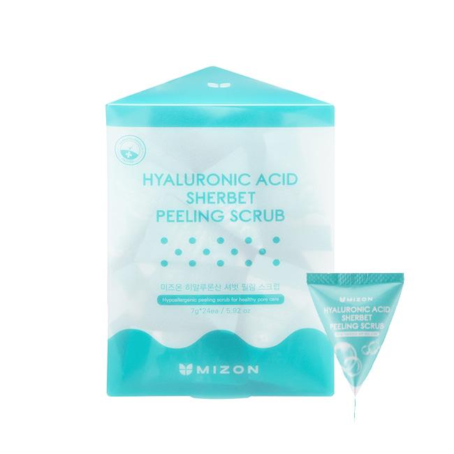 Mizon Hyaluronic Sherbet Peeling Scrub, Гиалуроновый скраб-щербет