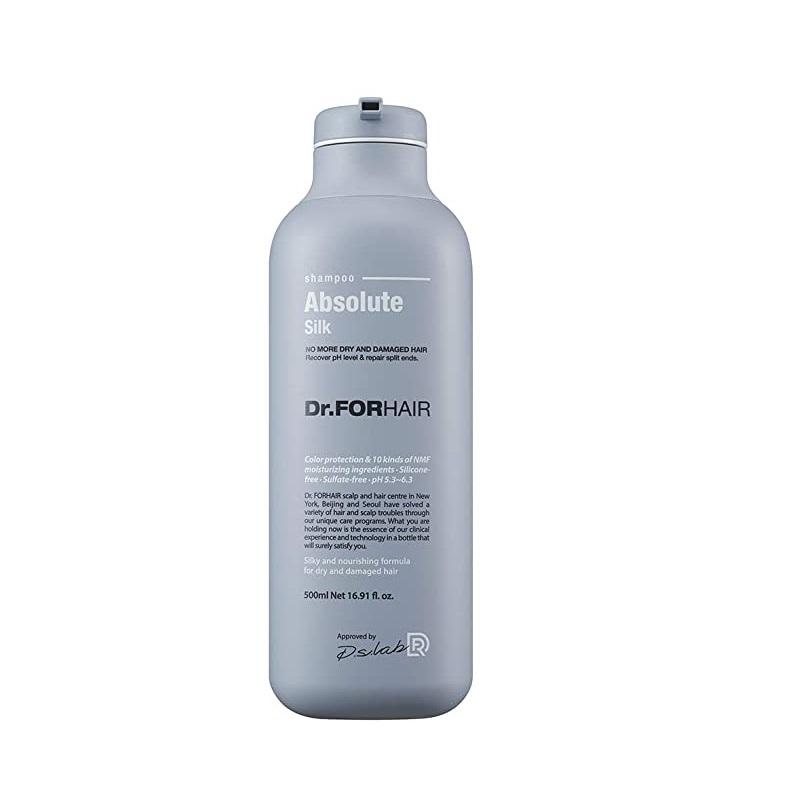 Dr. ForHair Absolute Silk Shampoo, Шампунь, восстанавливающий кутикулу и шелковистость волос, 500 мл