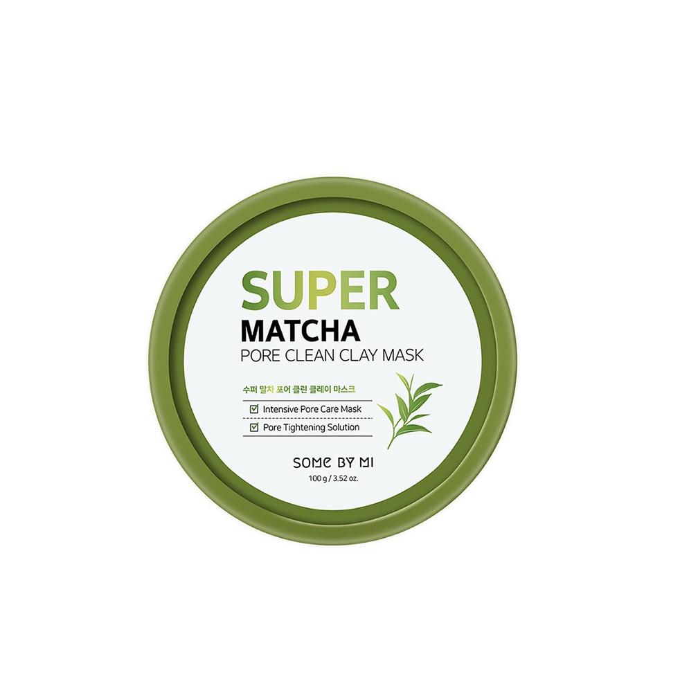 Some By Mi Super Matcha Pore Clean Clay Mask, Очищающая маска для пор на основе зеленого чая, 100 гр