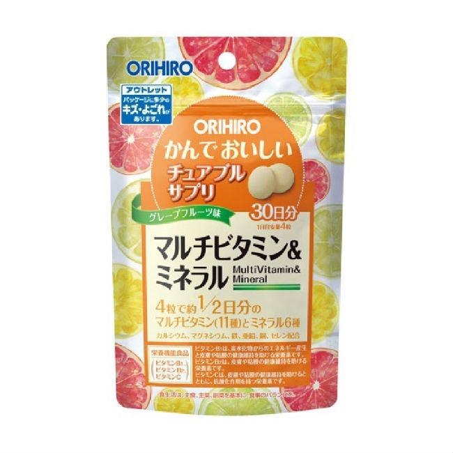 Orihiro Витамины + Минералы жевательные, 120 таблеток