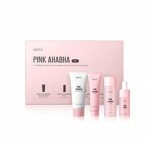 Nacific Pink AHABHA Kit, Набор миниатюр с экстрактом арбуза, АНА и ВНА кислотами, 4 позиции