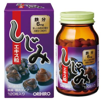 Orihiro Устрицы Корбикула, 120 таблеток