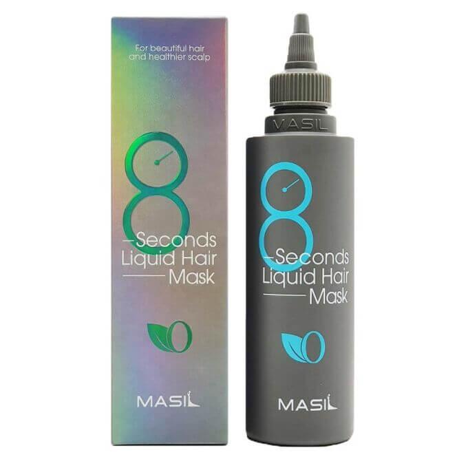 8 Seconds Salon Liquid Hair Mask, Освежающая маска для придания объема волос, 200 мл