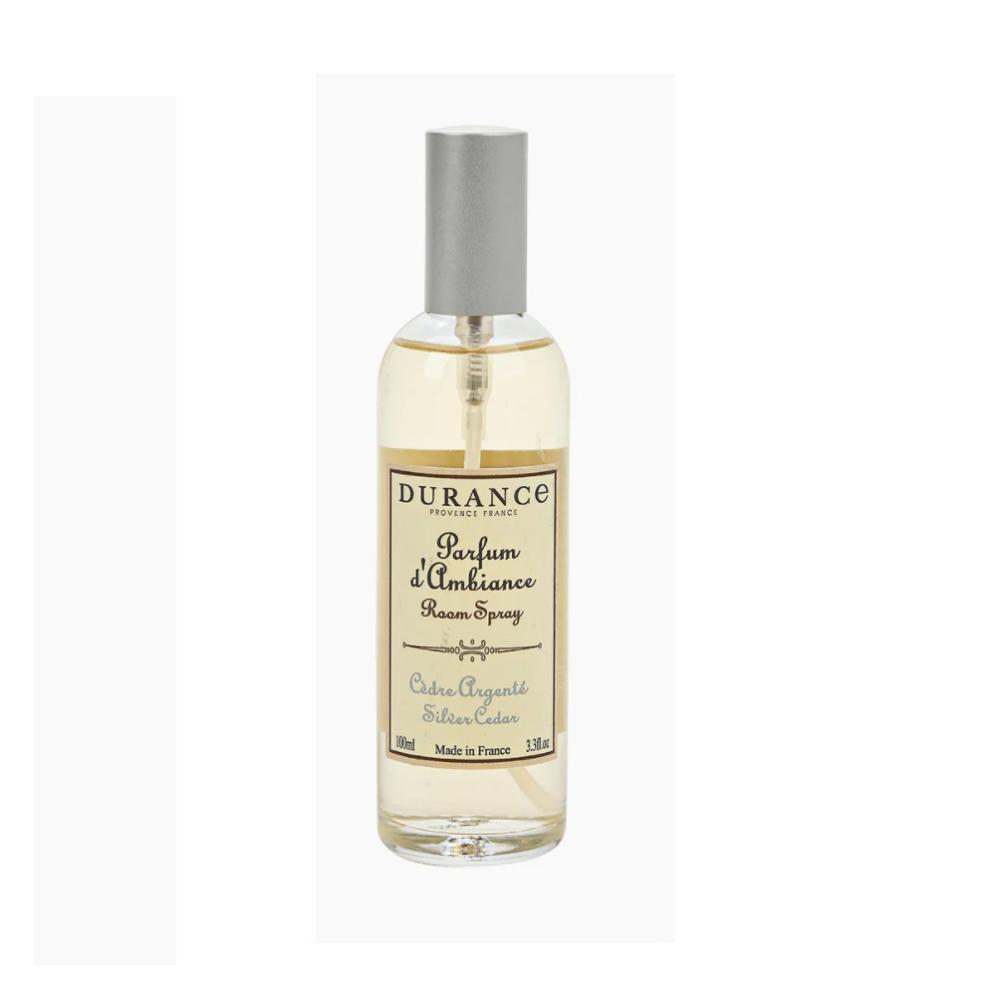 DURANCE Parfume d`Ambiance Silver Cedar, Спрей для дома Серебряный кедр,100 мл