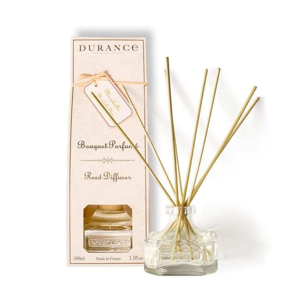 DURANCE Bouquet Parfume Reed Diffuser Mirabelle Plum, Диффузор Слива Мирабель,100 мл