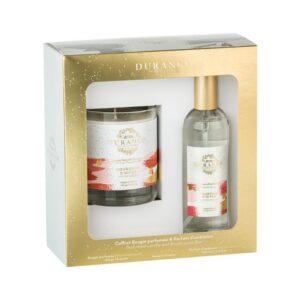 Durance Couronne D`Hiver, Набор ароматическая свеча и спрей для дома, аромат Венок