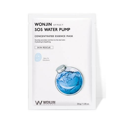 Wonjin SOS Water Pump mask, Увлажняющая маска с морскими экстрактами, 1 шт