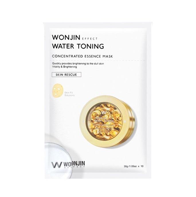 Wonjin Water Toning Concentrated Essence Mask, Осветляющая тканевая маска для лица, 1 шт