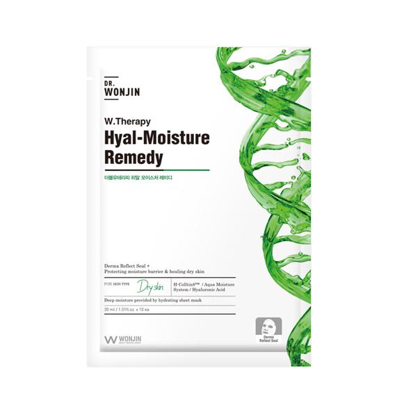WONJIN Hyal-Moisture Remedy, Тканевая маска с растительным комплексом, 1 шт