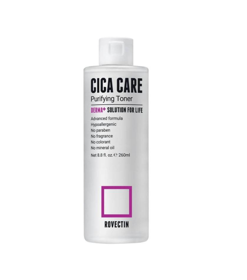 Rovectin Skin Essentials Cica Care Purifying Toner, Успокаивающий тонер для чувствительной кожи, 260 мл