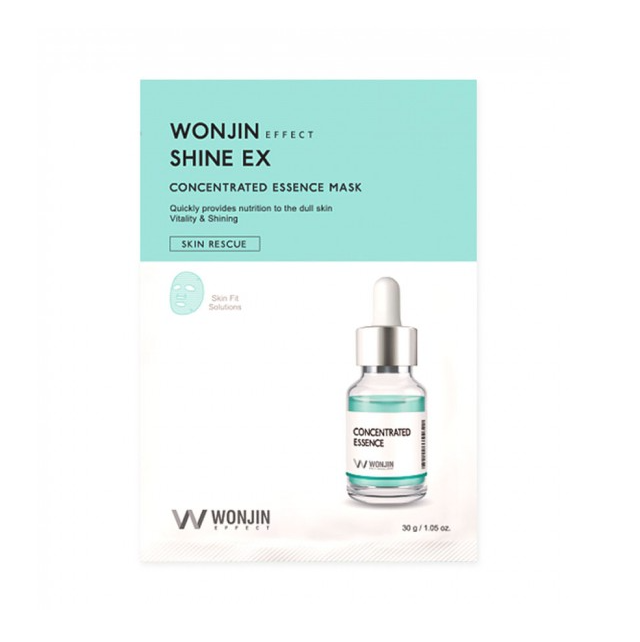 Wonjin Shine EX Concentrated Essence Mask,Тканевая маска-концентрат для сияния кожи, 1 шт
