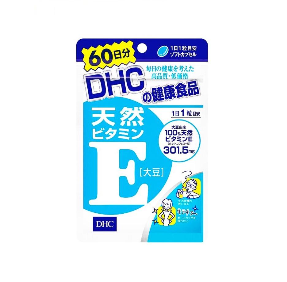 DHC Витамин Е, 60 капсул