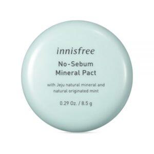 Innisfree No sebum Mineral pact, Матирующая компактная пудра