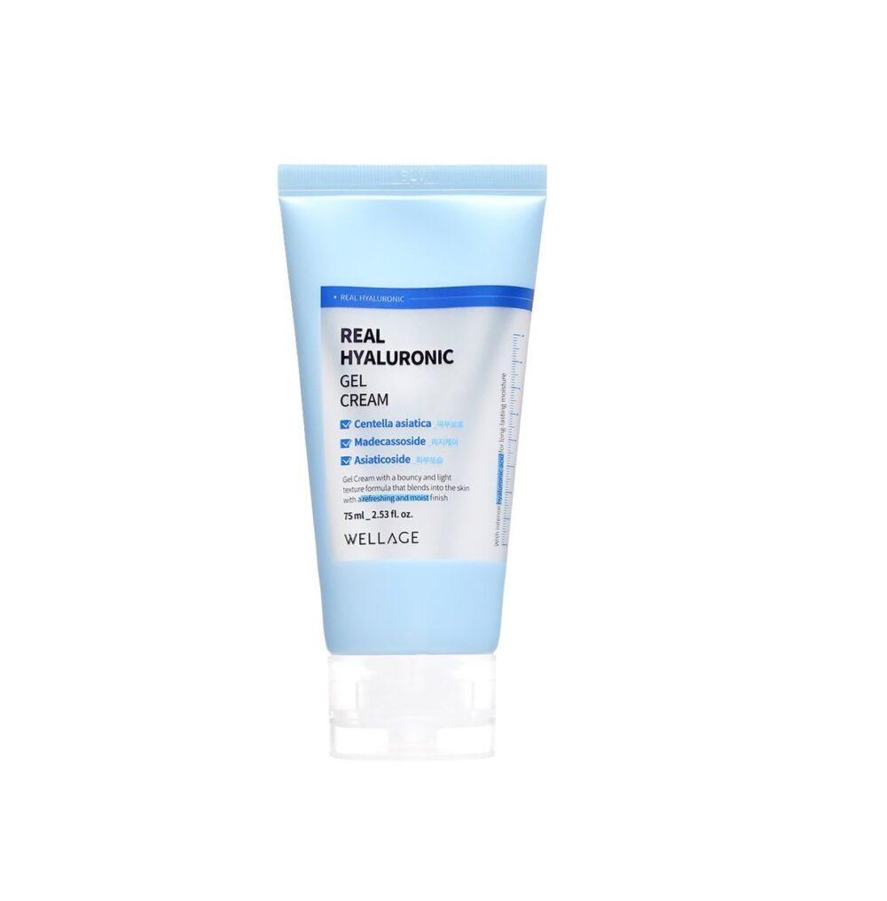 Wellage Real Hyaluronic Gel Cream, Гель-крем с ГК и низкомолекулярным коллагеном, 75 мл