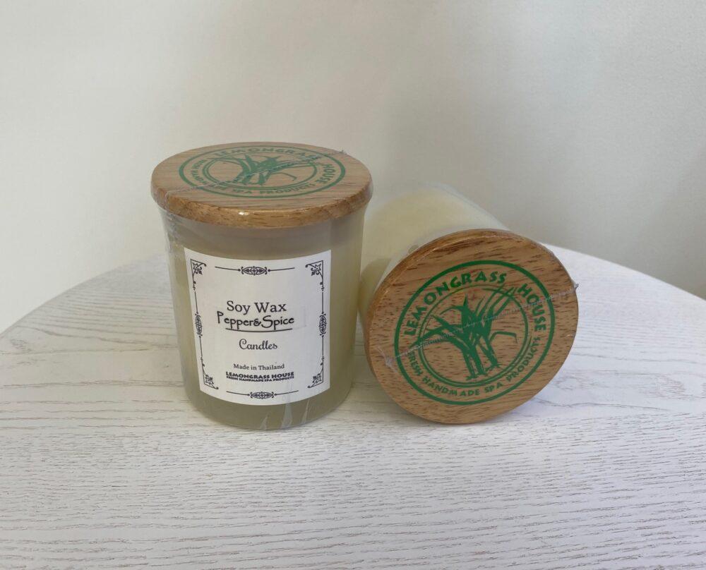 Свеча из соевого воска с крышкой «Черный перец»