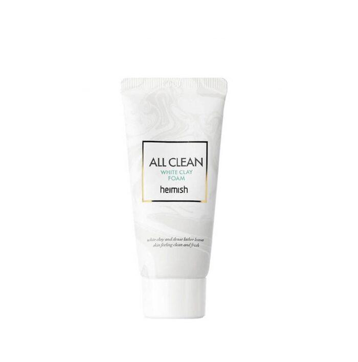 Heimish All Clean White Clay Foam, Осветляющая пенка для умывания,30 мл