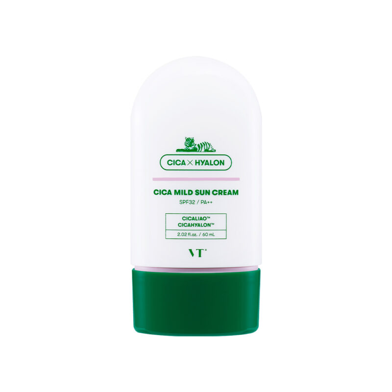 VT CICA Mild Sun Cream, Солнцезащитный крем-молочко, 60 мл