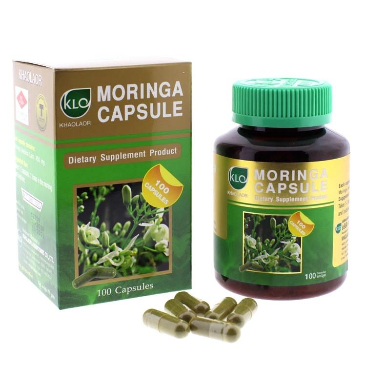 Khaolaor Moringa Capsule Dietary Supplment Product, Фитокапсулы Моринга, 100 шт