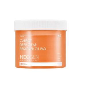 Neogen Dermalogy Carrot Deep Clear Remover Oil Pad, Очищающие пэды для снятия макияжа с морковью, 60 шт