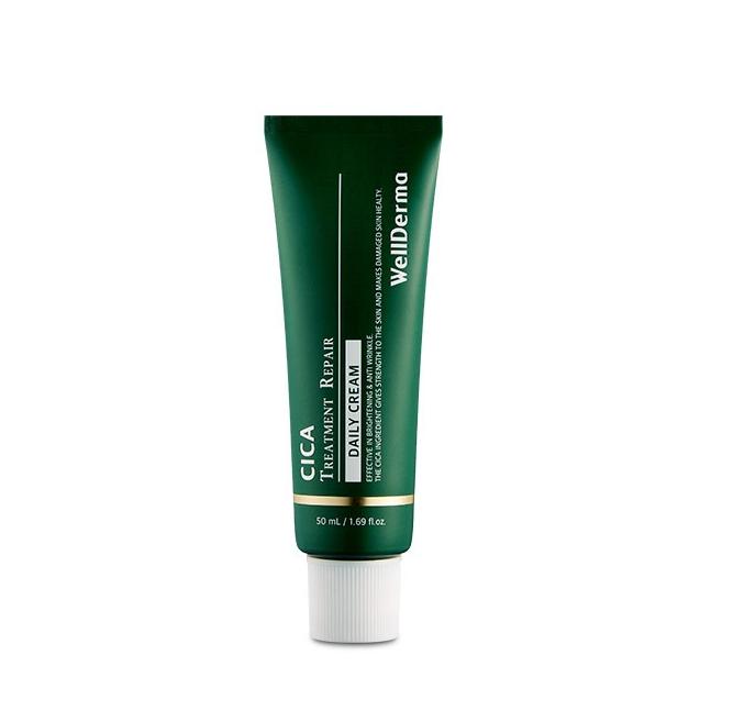 Wellderma Daily Care Recovery Cream, Восстанавливающий крем с центеллой, 50 мл