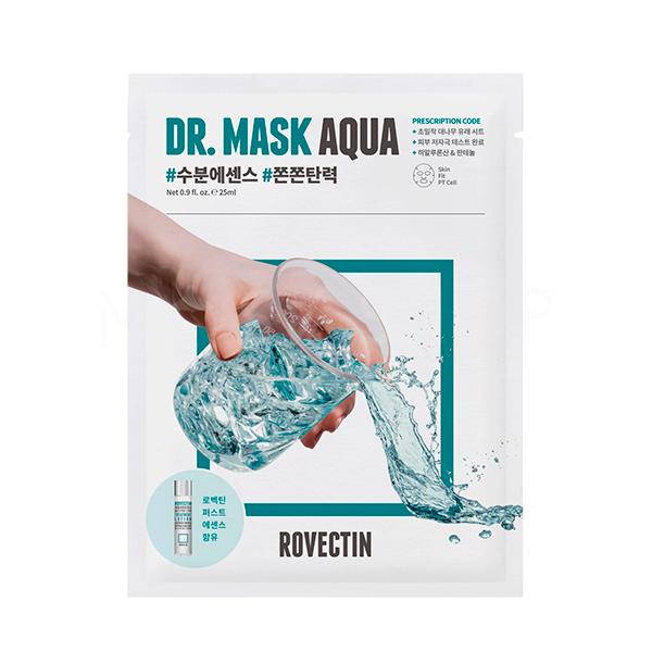 Rovectin Skin Essentials Dr. Mask Aqua, Интенсивно увлажняющая маска для лица, 1 шт