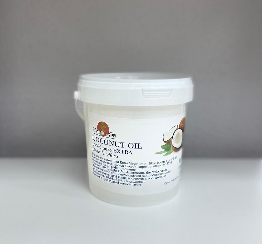 Aroma Spa 100% Кокосовое масло ЭКСТРА, 900 мл